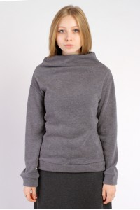 mini throat sweater gray