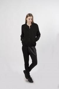 bomber jacket sport, black