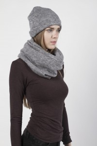 Scarf snood  gray melange