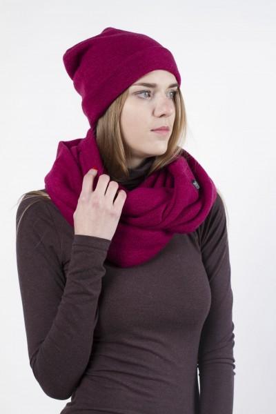 Beanie hat  dark pink