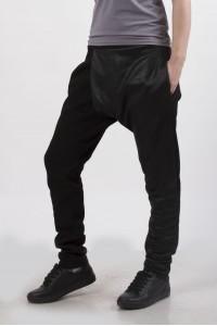 Штаны грави  unisex, черные с напылением