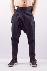 Pants with belt gravi, navi blue