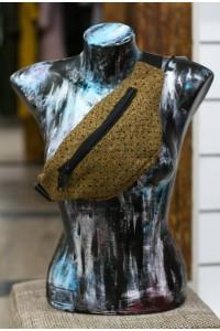 Поясная сумка коричневая, шерсть