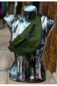 Поясная сумка темно-зеленая