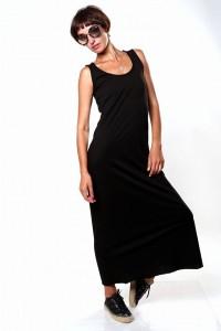 Платье в пол черное