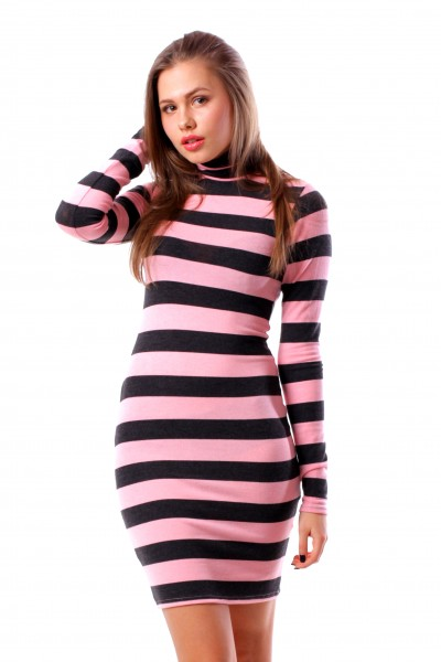 dress Knitted skiny, pink
