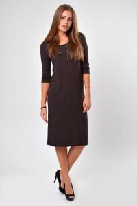 Dress brown, sleeve 3/4