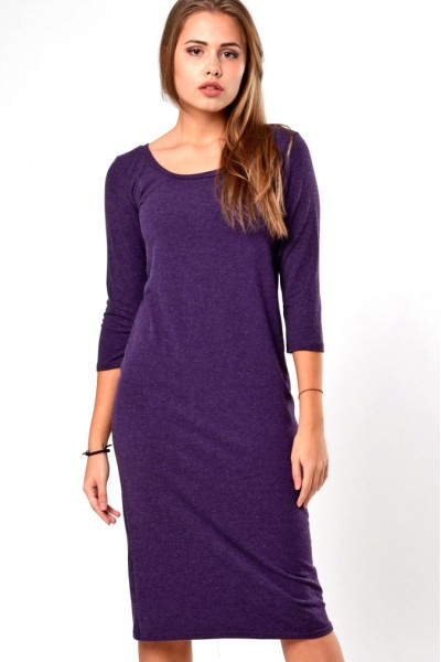 Dress violet, sleeve 3/4
