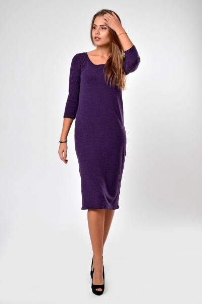Dress violet, sleeve 3/4
