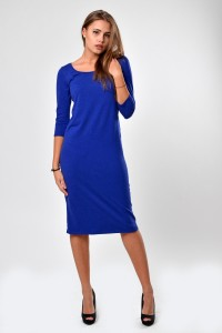 Dress electric blue, sleeve 3/4