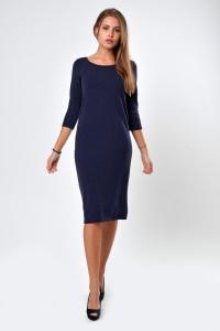 Dress dark blue, sleeve 3/4