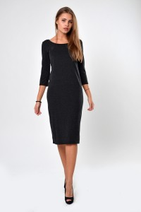 Dress anthracite, sleeve 3/4