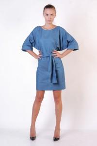 Греческое платье синее