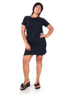 Платье-футболка темно-синее