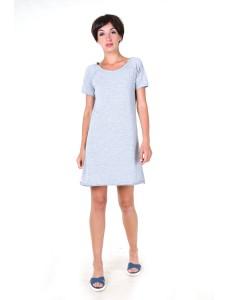 Платье-футболка серое