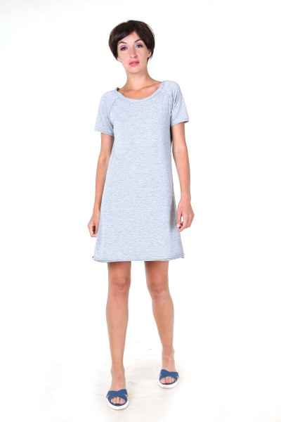 t-shirt dress grey