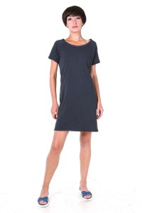 t-shirt dress antracite