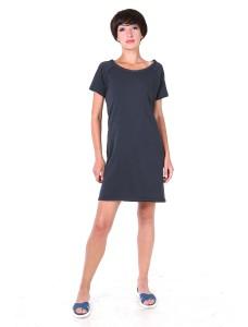 Платье-футболка антрацит