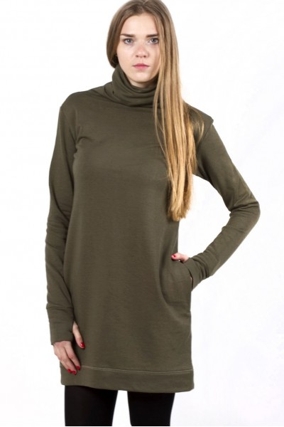 dress abito, khaki
