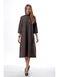 Английское платье, коричневое