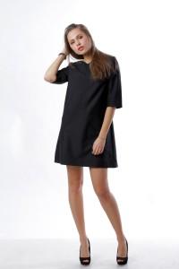 Сукня трапеція, чорне