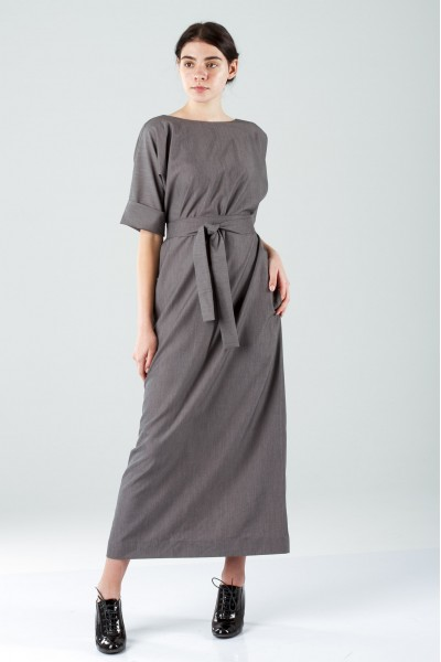 Greek dress grey