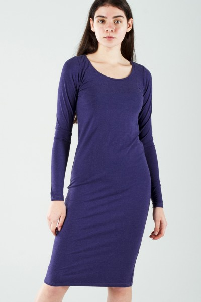 Dress dark blue, sleeve 4/4
