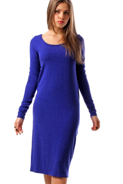 Dress electric blue, sleeve 4/4