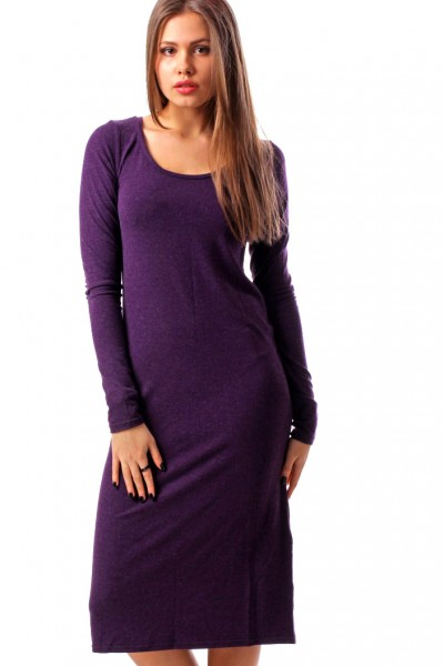 Dress violet, sleeve 4/4