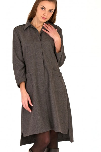 dress woolen, gray
