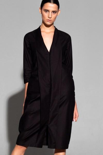 платье с отворотом jakki