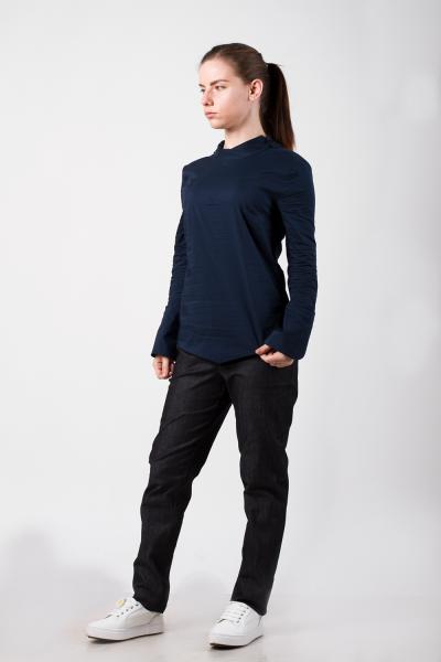 Блуза-японка, синяя