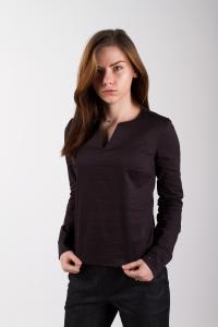 V-notch blouse, black