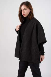 Knitted jacket, anthracite