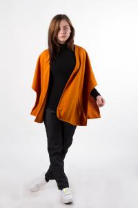 Knitted jacket, orange