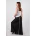 Трикотажная юбка-макси антрацит