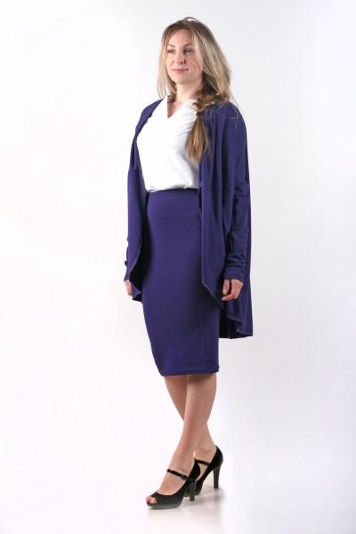"Комплект ""кардиган+блуза+юбка"", синий"