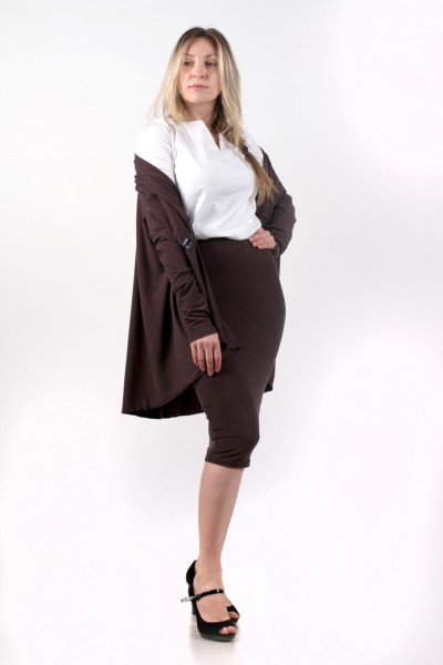 Комплект кардиган+блуза+юбка