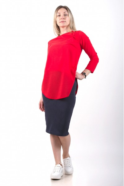 Blouse Leveza, coral