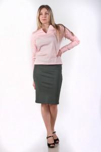 Блуза V-виріз, рожева