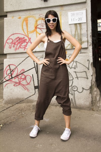 overalls brown
