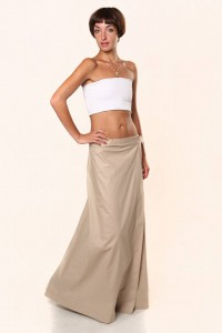 wraparound skirt beige