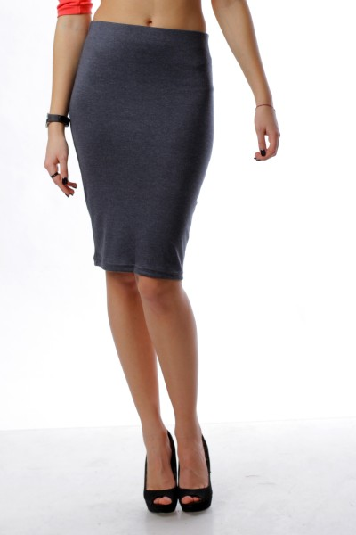 Pencil skirt  blue gray
