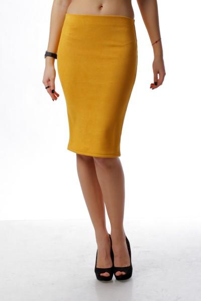 Pencil skirt  mustard