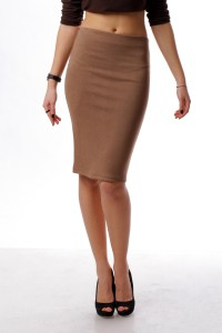 Pencil skirt  coffee with milk