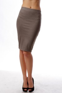 Pencil skirt, warm gray