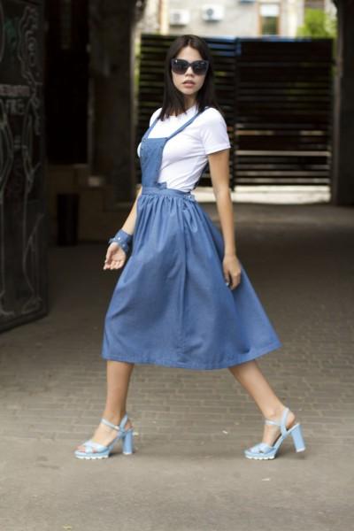 Сарафан голубой  джинс
