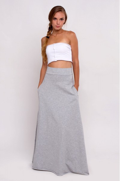 knitted skirt maxi