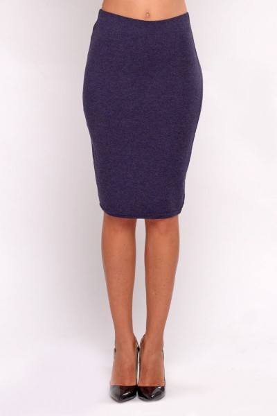 Pencil skirt blue melange