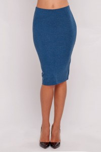 Pencil skirt turquoise melange